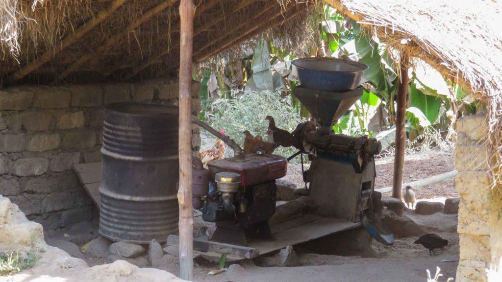 The village's clay brick press
